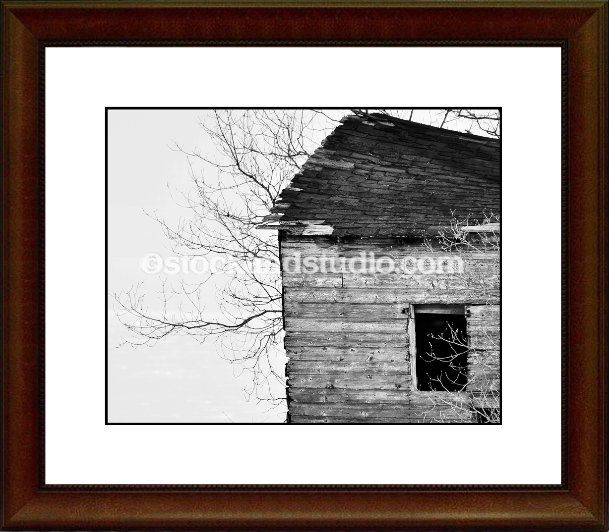 halfshed-bw-8X10-framed