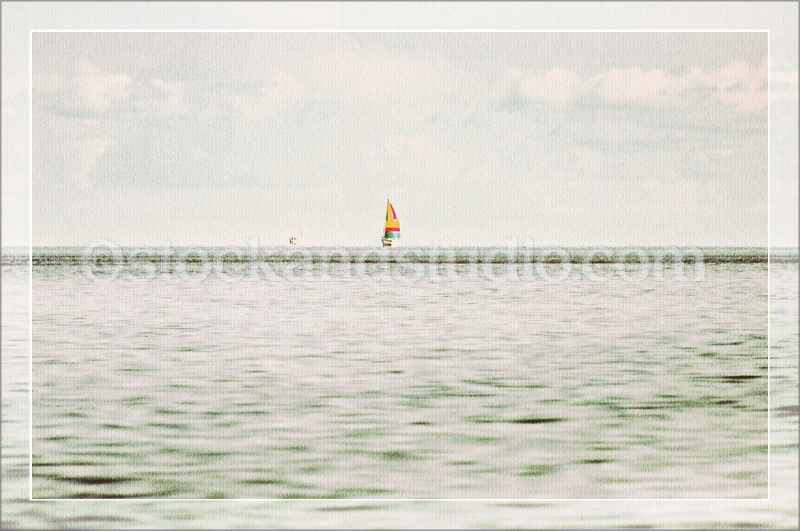 sailboat-grey-framed