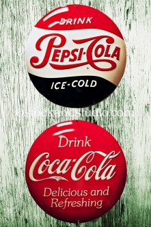 Antique Coke & Pepsi Drink Signs