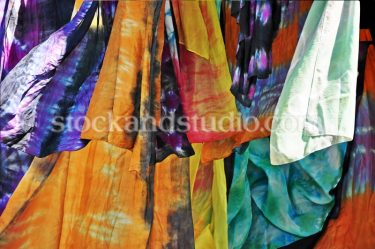 Multi-coloured Silk Fabric 1