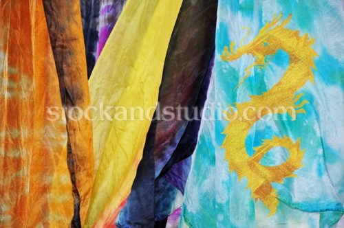 Multi-coloured Silk Fabric 2 (Dragon)