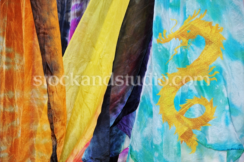 Silk Scarves With Dragon