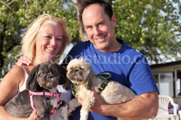 Mom & BF with Dogs