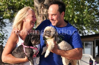 Mom & BF with Dogs (Laughing)