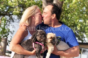 Mom & BF with Dogs (Kiss)