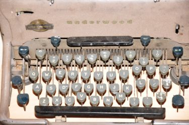 Old Typewriter – Typewriter Keys – Underwood
