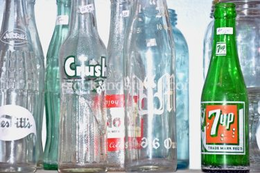 Glass Bottles – 7up, Orange Crush, Nesbitt's