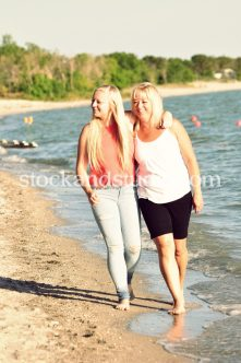 Ashley with Mom – Walking by Lake 1