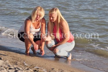 Ashley with Mom – Sitting by Lake