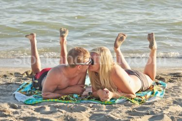 Laying on Beach 5 (Kissing)
